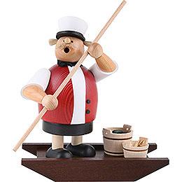 Smoker  -  Spree Woods man with boat  -  21cm / 8.3inch