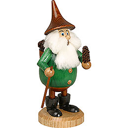 Smoker Timber - Gnome Coneman green  -  Hat brown  -  15cm / 6 inches