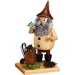 Smoker Timber - Gnome Wood Gatherer on a board  -  15cm / 6 inches