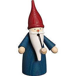 Smoker Traditonal Gnome blue  -  16cm / 6 inch