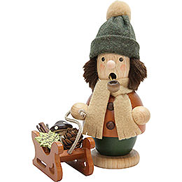 Smoker boy with sleigh  -  14cm / 5.5inch