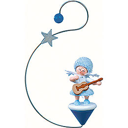 Snowflake with guitar -  12x7x3cm / 4.7x2.8x1inch