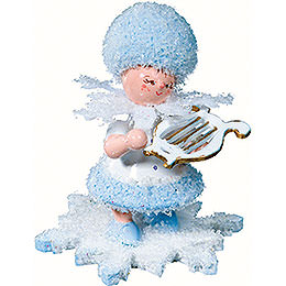 Snowflake with small harp  -  5cm / 2inch