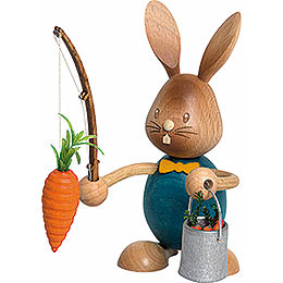 Snubby Bunny with carrot fisher  -  12cm / 4.7inch