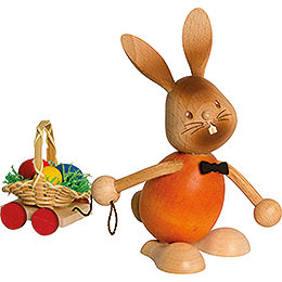 Snubby Bunny with egg cart  -  12cm / 4.7inch