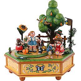Spieldose Unser kleiner Garten  -  20cm
