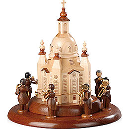 Theme platform for electr. Music Box  -  Brass Band an der Church of our Lady  -  15cm / 6 inch