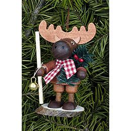 Tree Ornament  -  Moose Natural  -  9,5cm / 4 inch