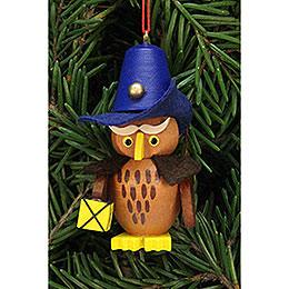 Tree Ornament  -  Owl Nightwatchman  -  3,2x6,2cm / 1.3x2.4 inch