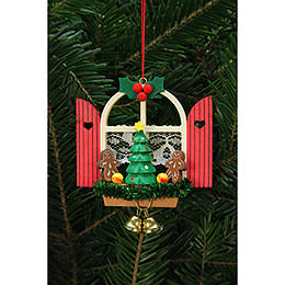 Tree Ornaments Advent Window with Gingerbread  -  7,6x7,0cm / 3x3 inch