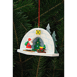 Tree Ornaments Igloo with Niko  -  9,2x7,0cm / 4x3 inch