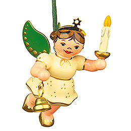 Tree ornament Angel - Light - Bell 6cm / 2,5inch