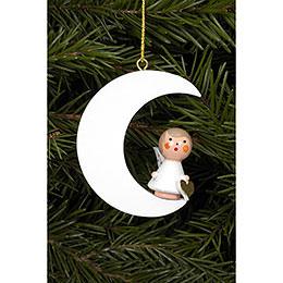 Tree ornament Angel in white Moon  -  4,0 x 5,2cm / 2 x 2 inch