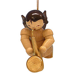 Tree ornament Angel with saxophone  -  natural colors  -  floating  -  5,5cm / 2,1 inch