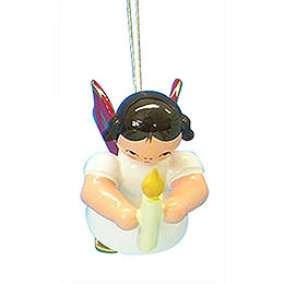 Tree ornament Angel with torch  -  Red Wings  -  floating  -  6cm / 2,3 inch