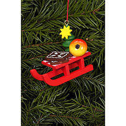 Tree ornament Christmas - sleigh  -  5,3 x 4,3cm / 2 x 2 inch