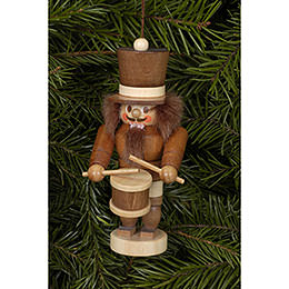 Tree ornament Drummer natural  -  10,5cm / 4 inch