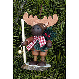 Tree ornament Moose natural  -  9,5cm / 4 inch