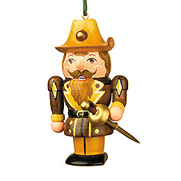 Tree ornament Musketeer Nutcracker  -  7cm / 3inch