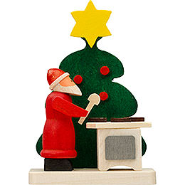 Tree ornament Santa Claus tree with ginger bread  -  6cm / 2.4inch