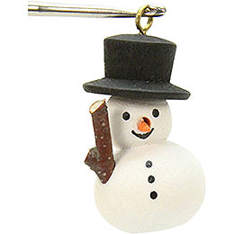 Tree ornament Snowman  -  1,1 x 3,0cm / 1 x 1 inch