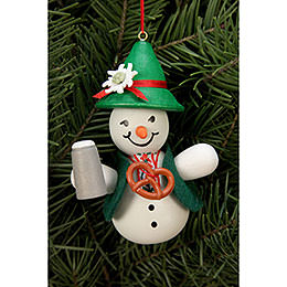 Tree ornament Snowman Bavarian  -  6,6 x 9,0cm / 2 x 3 inch