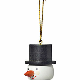 "Tree ornament ""Snowman head""  -  4cm / 1.6inch"
