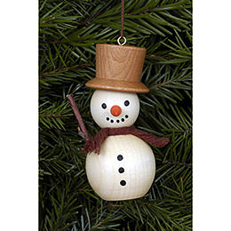 Tree ornament Snowman natural colors  -  3,0 x 7,0cm / 1 x 3 inch