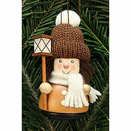 Tree ornament Teeter man lantern boy, natural  -  9,5cm / 3.7inch