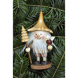 Tree ornament Tree Gnome natural  -  12cm / 5 inch