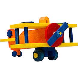 Tree ornament airplane orange and yellow  -  5cm / 2inch
