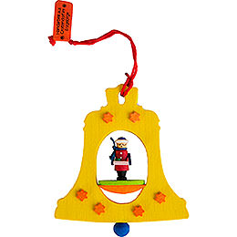 Tree ornament bell with Striezel boy  -  7,5cm / 3inch