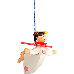 Tree ornament floating angel rosé with thread  -  6cm / 2.4inch