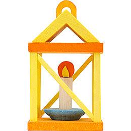 Tree ornament lantern, yellow and orange  -  5cm / 2inch