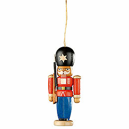 Tree ornament nutcracker guarding soldier  -  8cm / 3.1inch