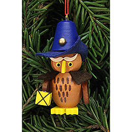 Tree ornament owl nightwatchman  -  3,2x6,2cm / 1.3x2.4inch