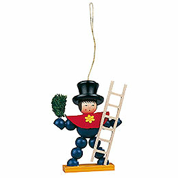 Tree ornament plum man colored  -  8cm / 3.1inch