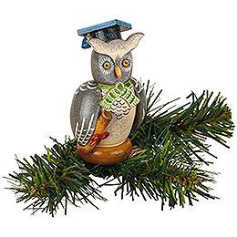 Tree ornament tree clip owl  -  8,5cm / 3,3inch