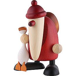 Weihnachtsmann mit Gans Auguste  -  19cm