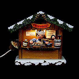 Winter Children Market booth Bratwurst house  -  10cm / 4inch