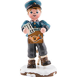 Winter Children Postman  -  8cm / 3 inch