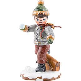 Winter Children Schoolboy  -  7cm / 3inch