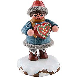 Winter Children Tinchens gingerbread heart  -  5cm / 2inch