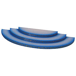 Wolke  -  3 - stufig  -  blau  -  35x16x3cm
