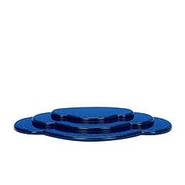 Wolke blau 3tlg.  -  B 36,5cm