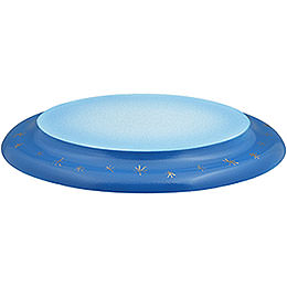Wolke oval blau - weiß  -  21cm