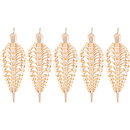 Wood Chip Cone, Set of Five  -  8cm / 3.1 inch